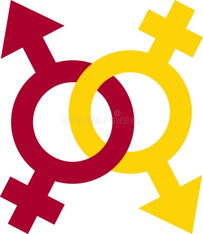 Símbolo de sexo ilustração royalty free