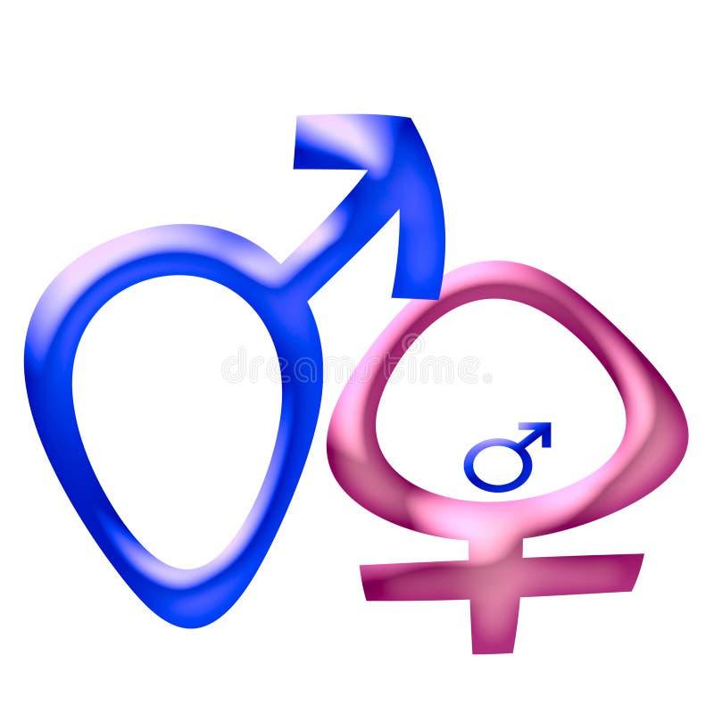 Símbolo de sexo embarazado ilustración del vector