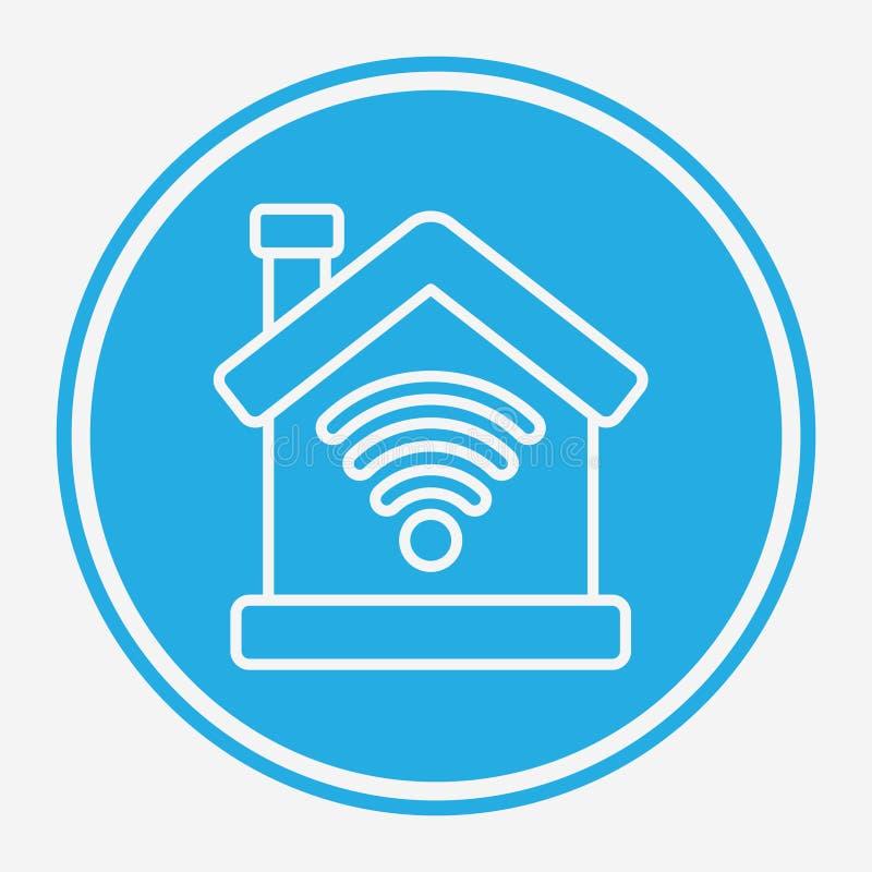Símbolo de sinal de ícone do vetor do Smart Home ilustração stock