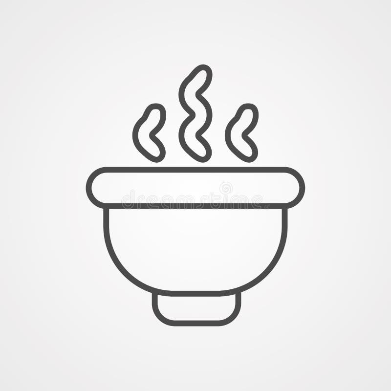 Símbolo de sinal de ícone de sopa ilustração royalty free