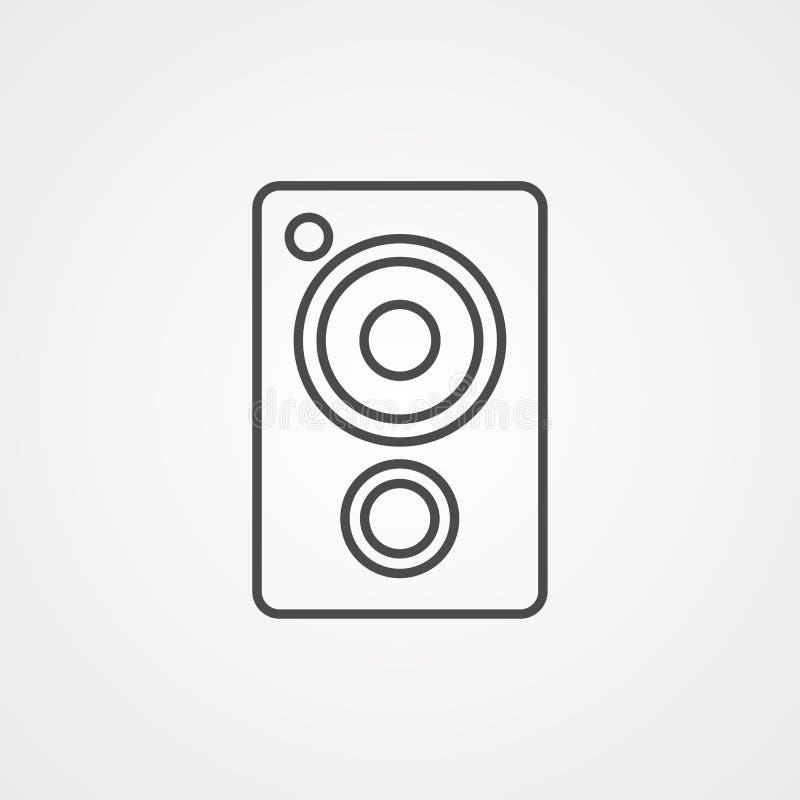 Símbolo de sinal do ícone do vetor do alto-falante ilustração stock