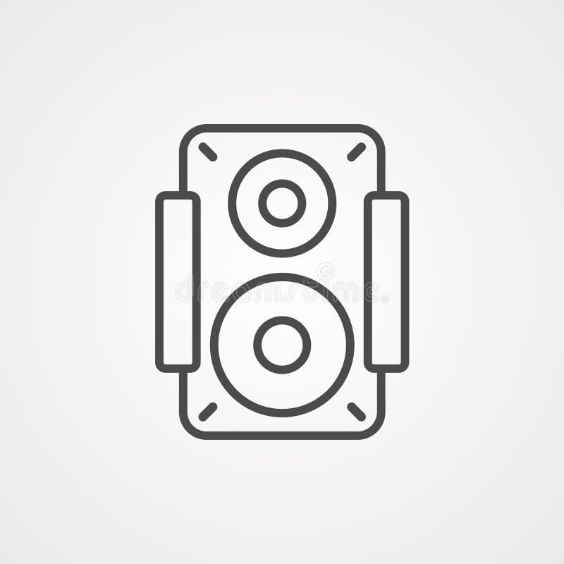 Símbolo de sinal do ícone do vetor do alto-falante ilustração do vetor