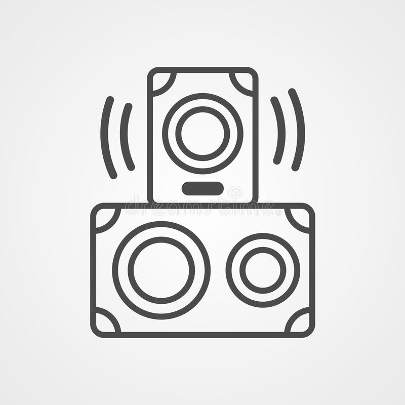 Símbolo de sinal do ícone do vetor do alto-falante ilustração royalty free
