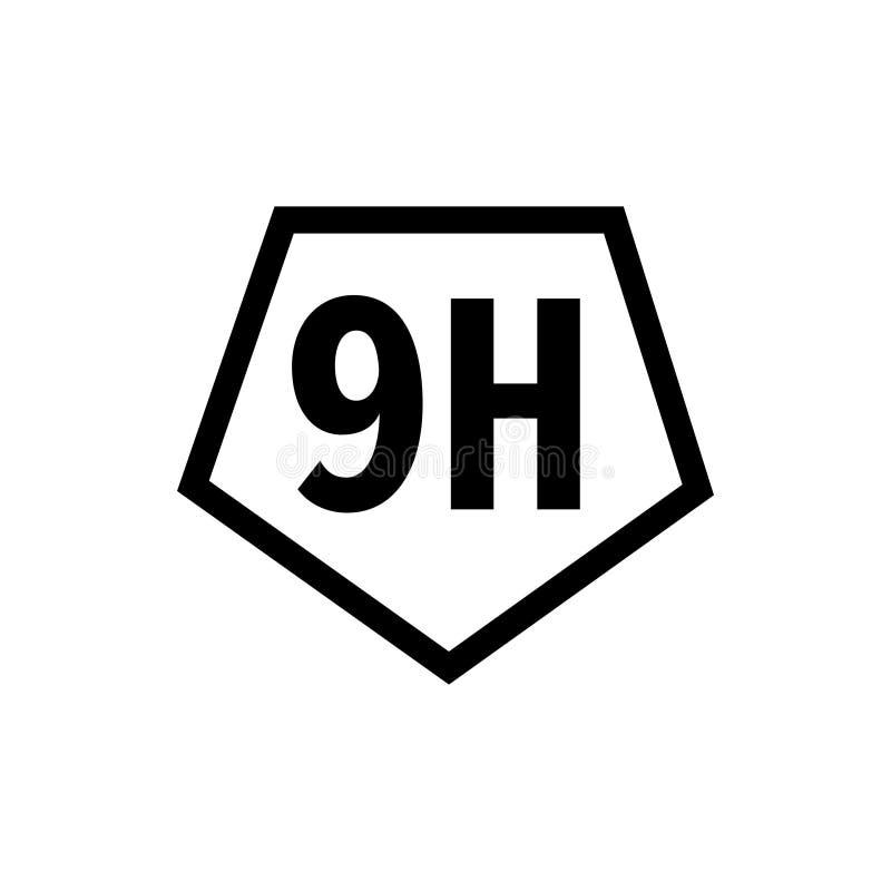 símbolo de superfície da dureza 9H ilustração royalty free