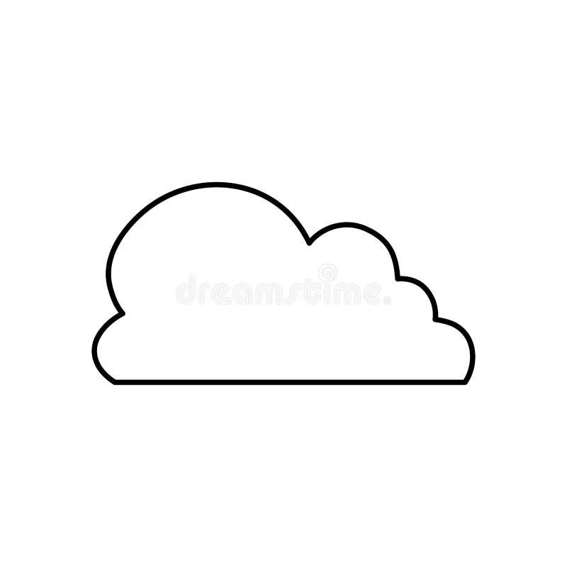 Símbolo de tempo da nuvem ilustração stock