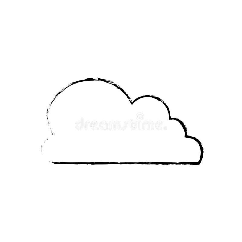 Símbolo de tempo da nuvem ilustração royalty free