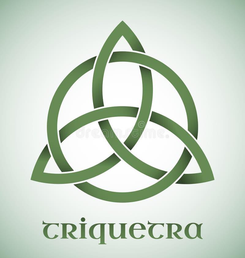 Símbolo de Triquetra con pendientes stock de ilustración
