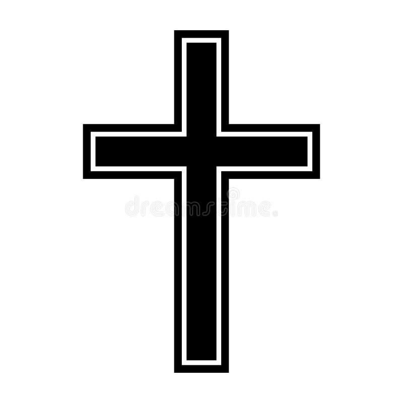 Símbolo de uma cruz da igreja Símbolo da religião da cristandade ilustração royalty free