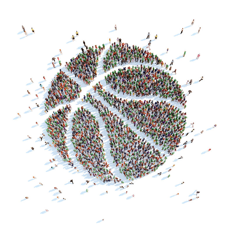 Símbolo de una bola del baloncesto stock de ilustración