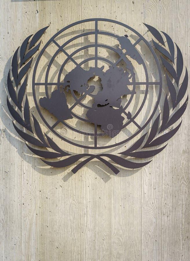 Símbolo de United Nations imagens de stock