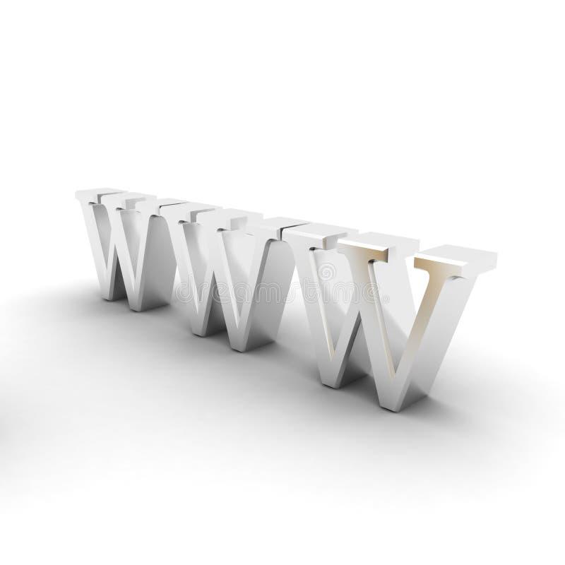 Símbolo de WWW stock de ilustración