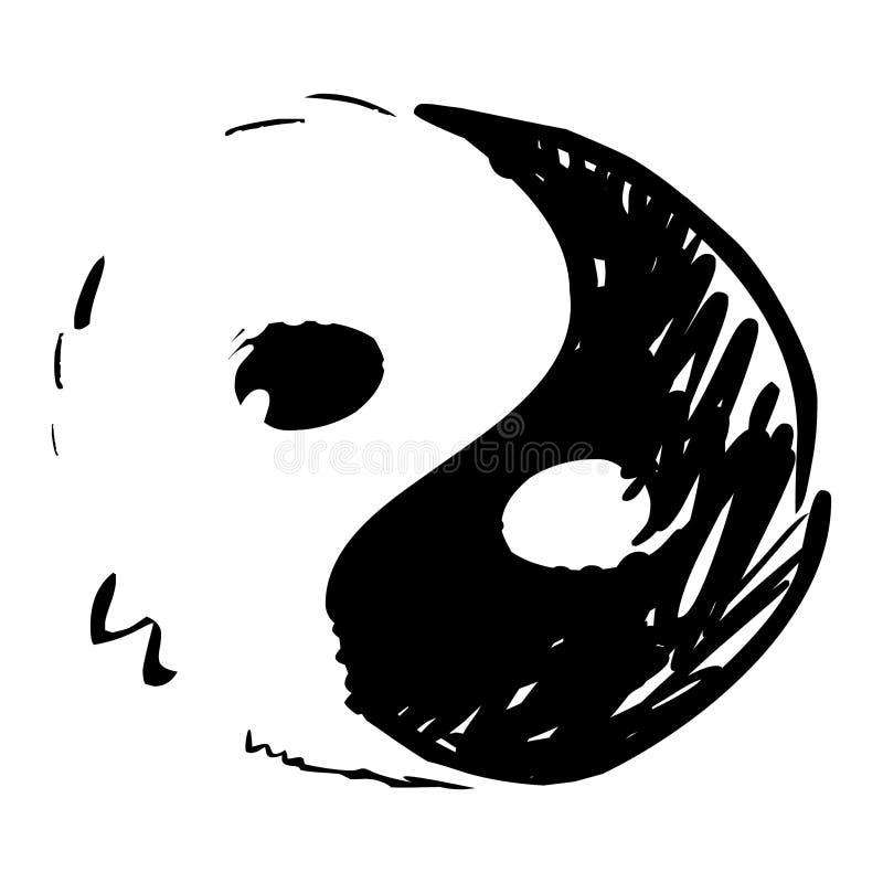 Símbolo de Yin y de Yang ilustración del vector