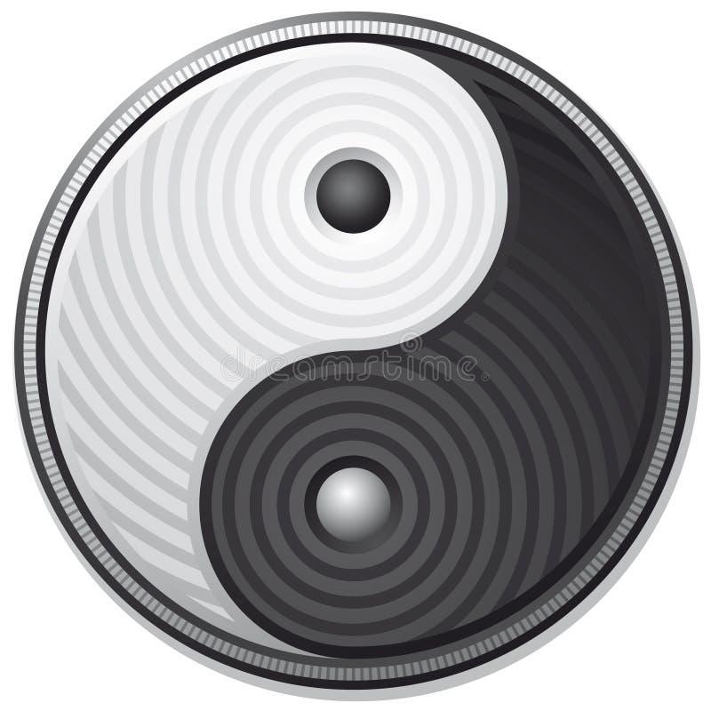 Símbolo de Yin Yang ilustração do vetor