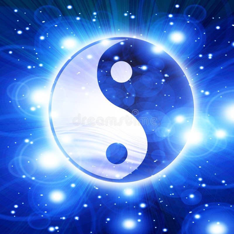 Símbolo de Yin yang stock de ilustración