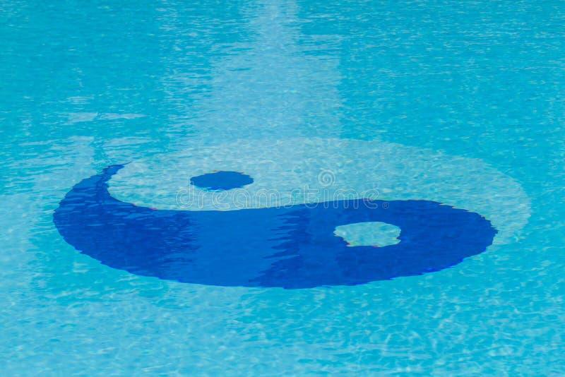 Símbolo de Yin Yang na associação foto de stock royalty free