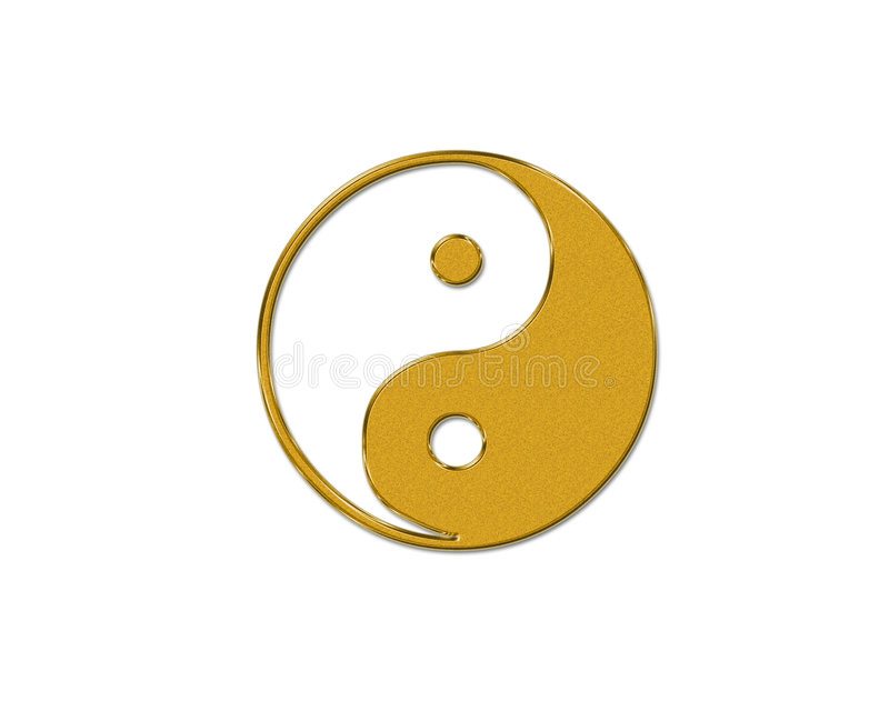 símbolo de Ying-yang ilustração do vetor