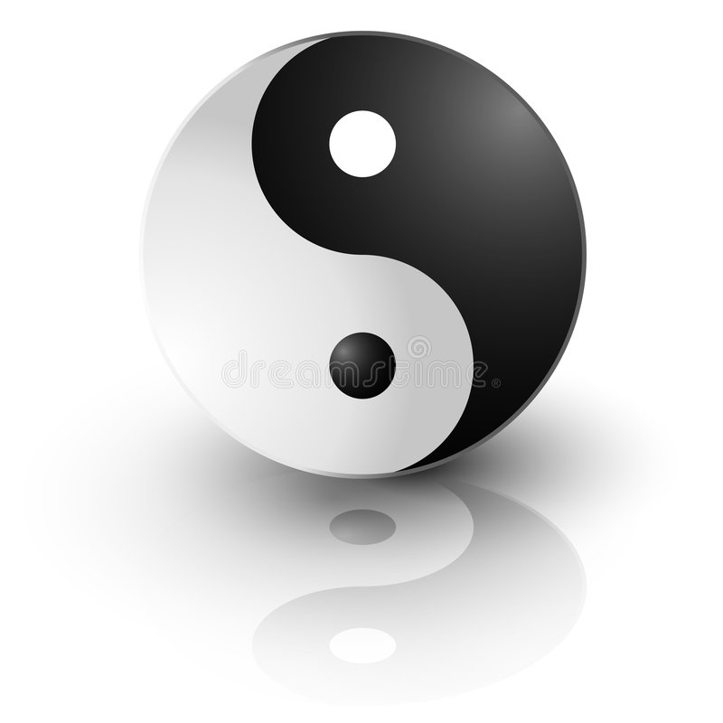 Símbolo de Ying yang ilustração do vetor