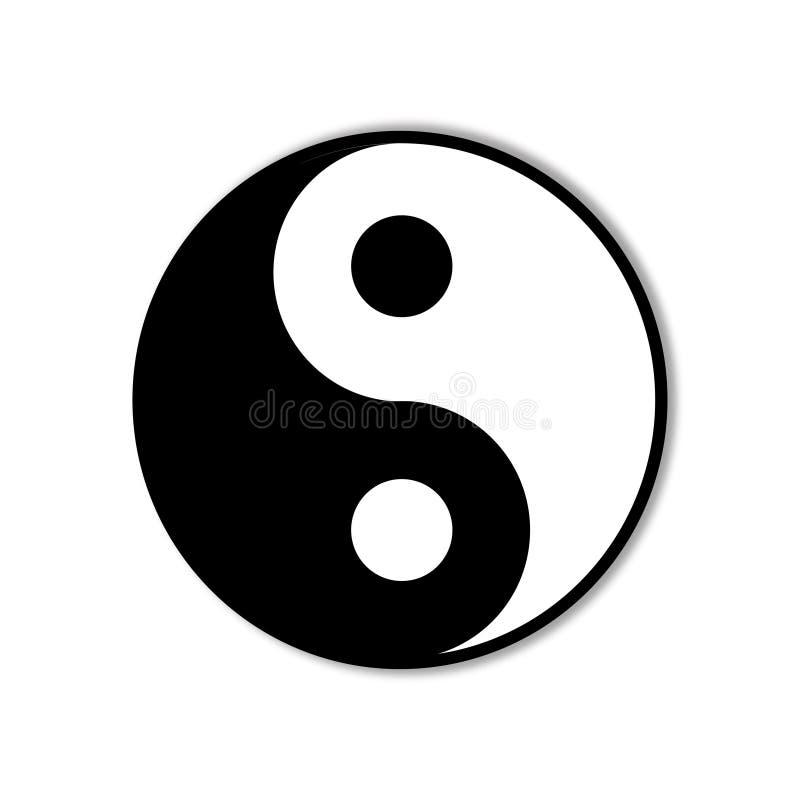 Símbolo de Ying yang da harmonia ilustração royalty free
