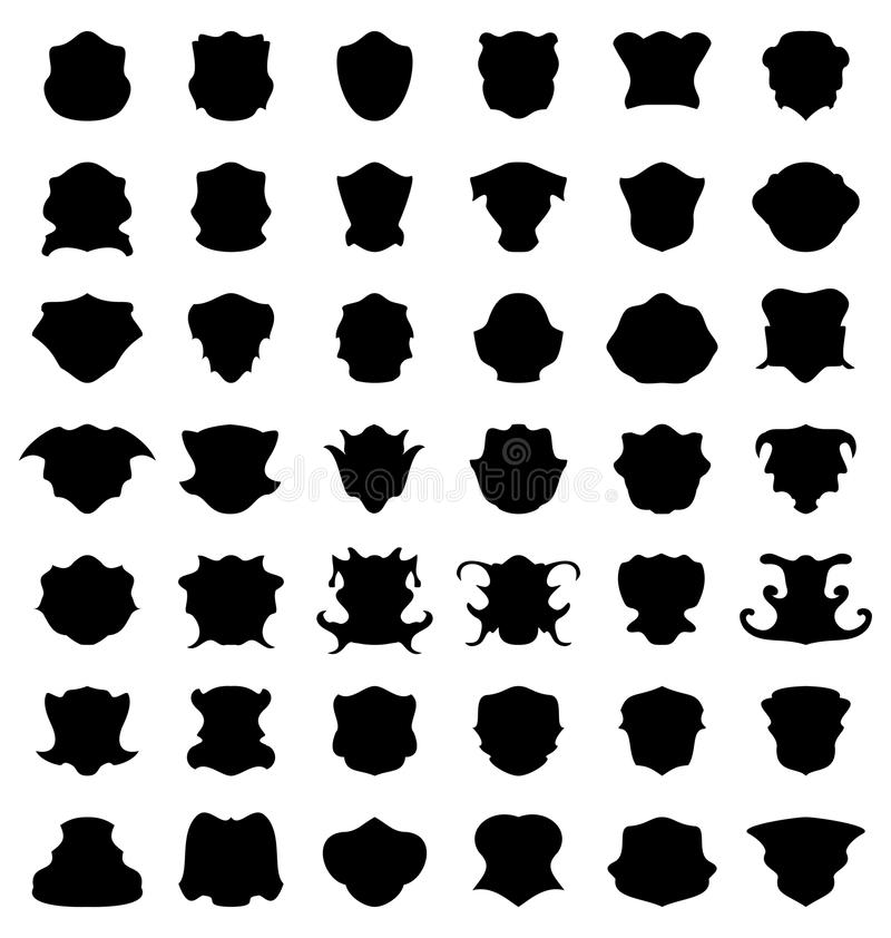 Símbolo decorativo determinado de la etiqueta de la etiqueta de la silueta del negro de la frontera de la forma ilustración del vector
