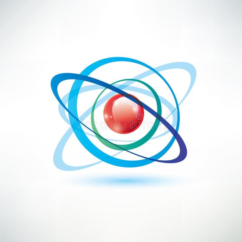 Símbolo del átomo ilustración del vector