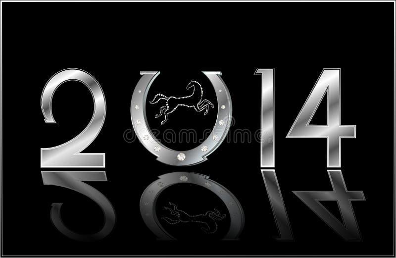 Símbolo del Año Nuevo ilustración del vector