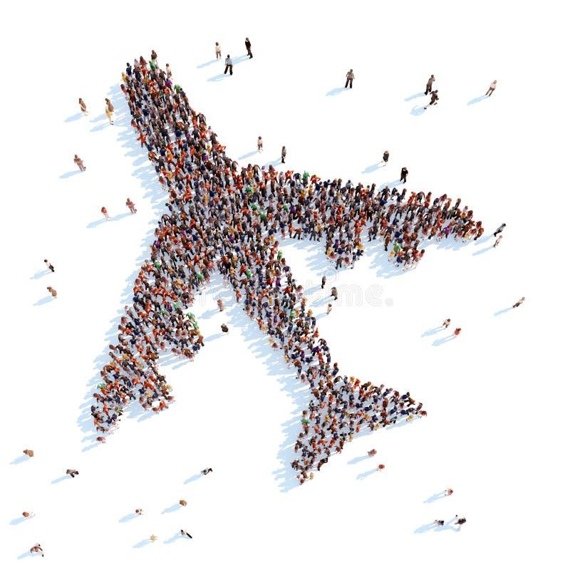 Símbolo del aeroplano ilustración del vector