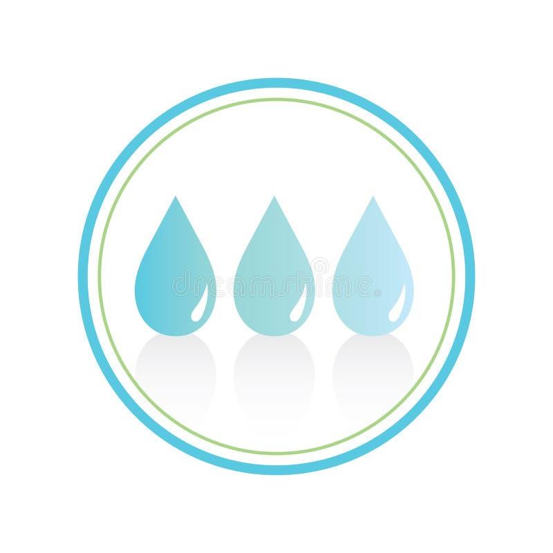 Símbolo del agua stock de ilustración