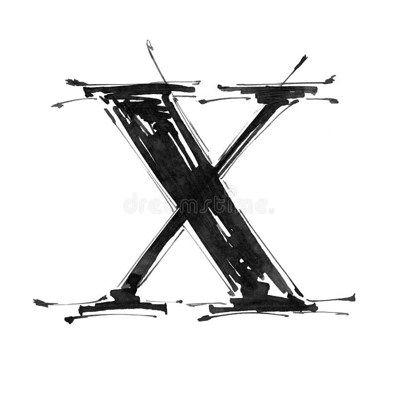 Símbolo del alfabeto - carta X libre illustration