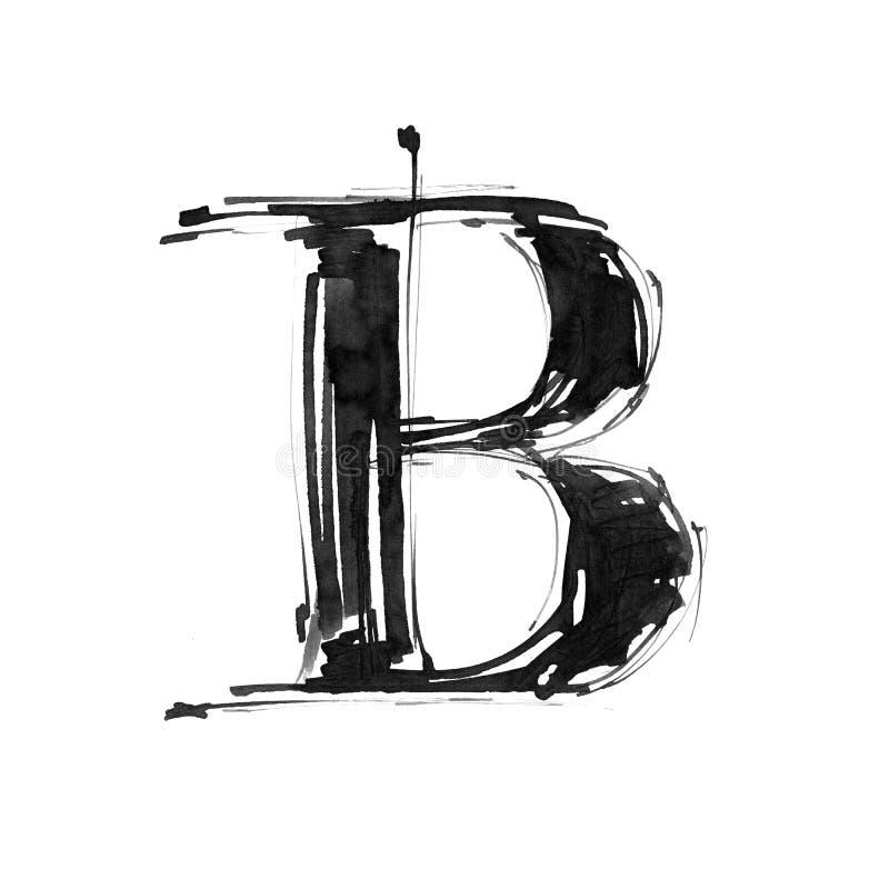 Símbolo del alfabeto - letra B stock de ilustración