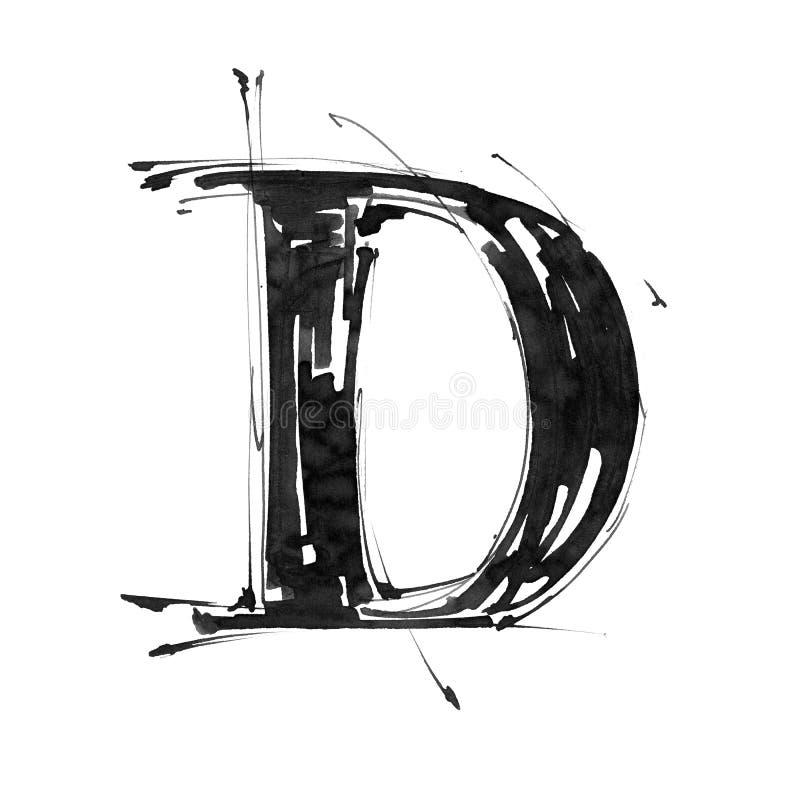 Símbolo del alfabeto - letra D ilustración del vector