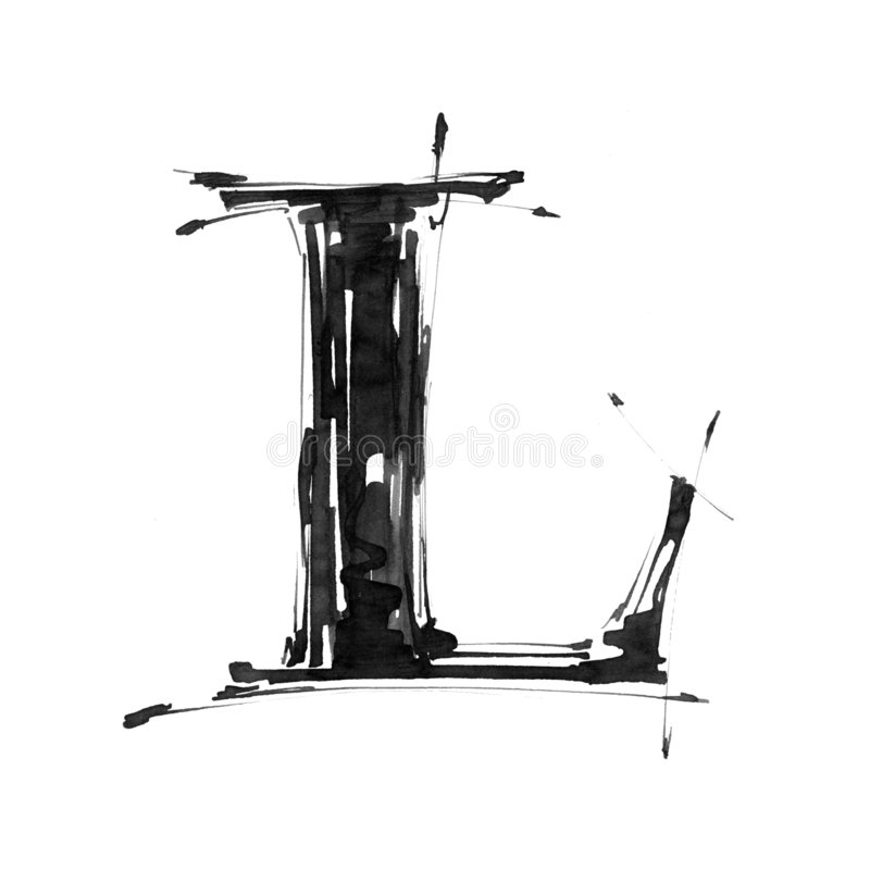 Símbolo del alfabeto - letra L stock de ilustración