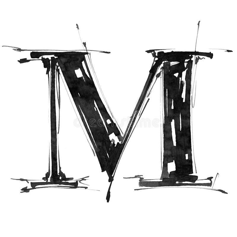 Símbolo del alfabeto - letra M ilustración del vector