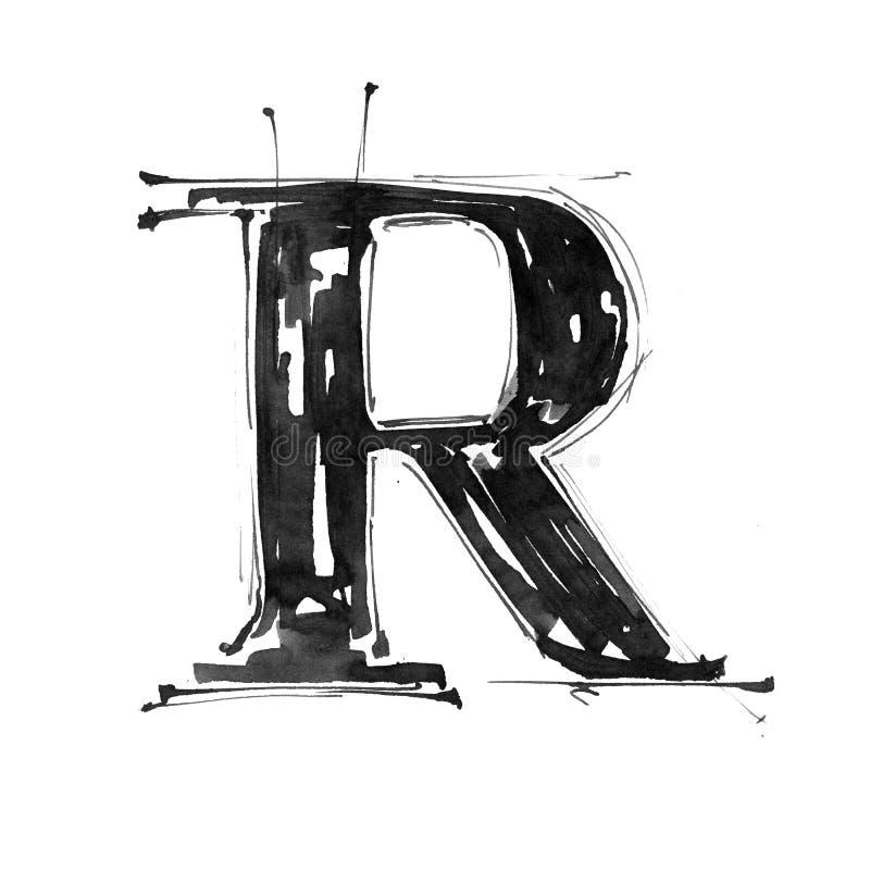 Símbolo del alfabeto - letra R ilustración del vector