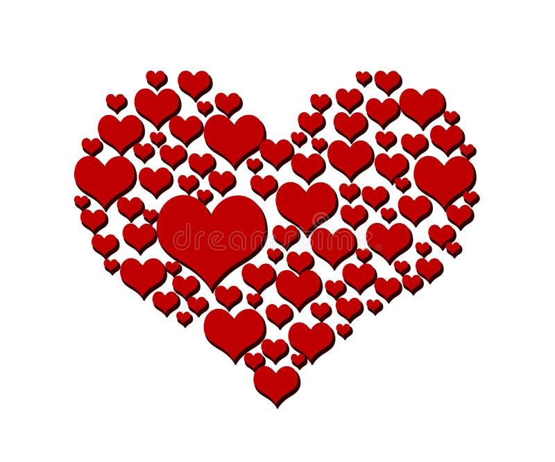Símbolo del amor del corazón aislado en blanco libre illustration