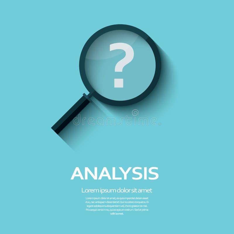Símbolo del análisis de negocio con el icono del signo de interrogación libre illustration
