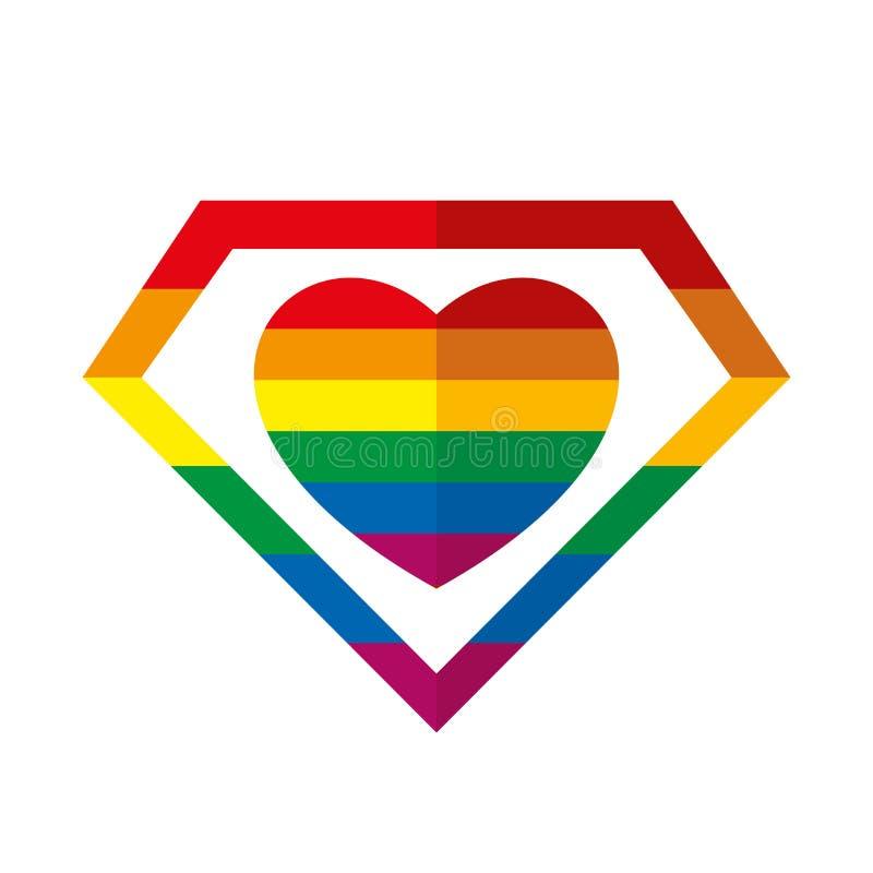 Símbolo del arco iris de LGBT ilustración del vector