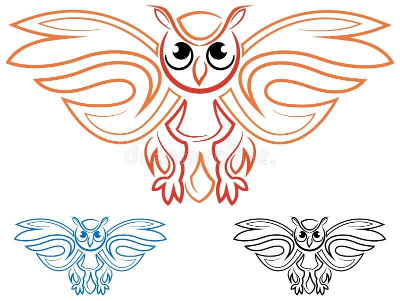 Símbolo del búho stock de ilustración