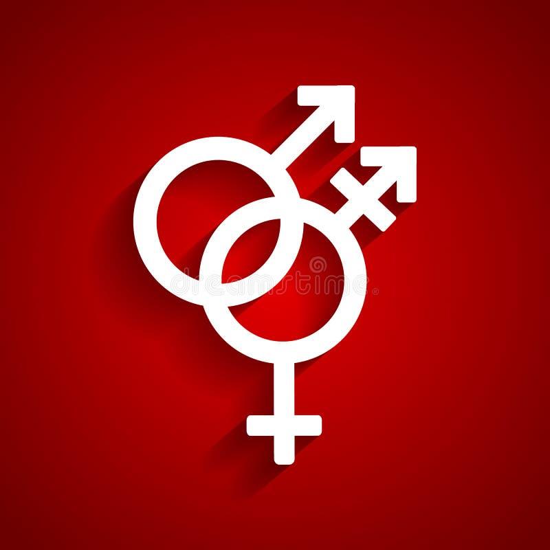 Símbolo del blanco del género del transporte ilustración del vector