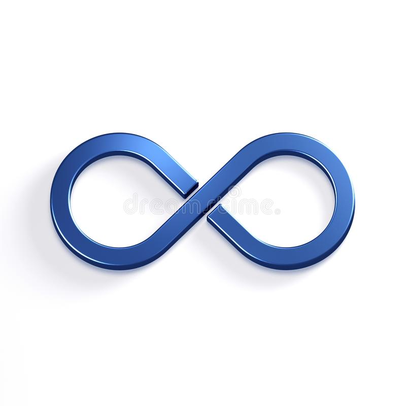 Símbolo del bucle infinito 3d rinden la ilustración ilustración del vector