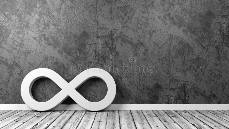 Símbolo del bucle infinito en el cuarto libre illustration