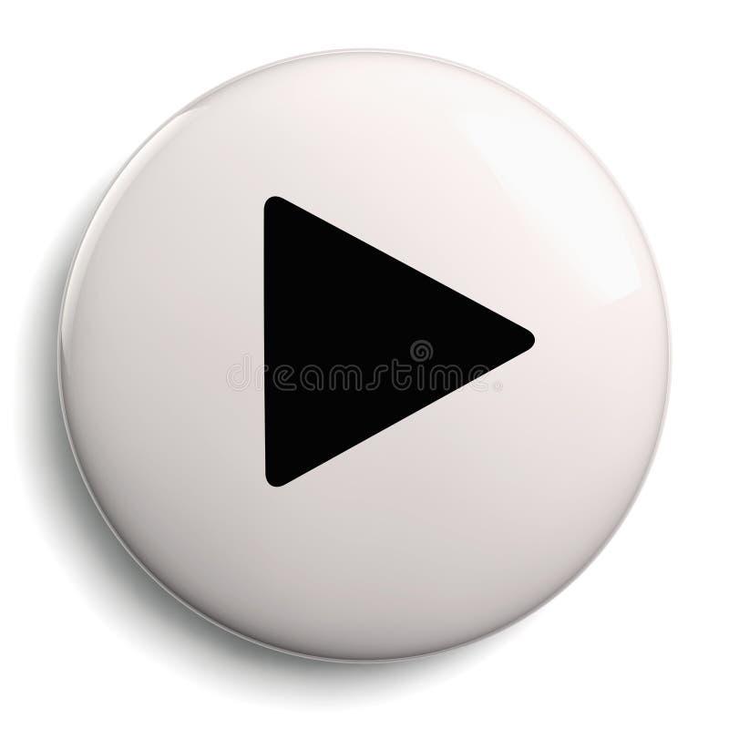 Símbolo del círculo del botón del juego stock de ilustración