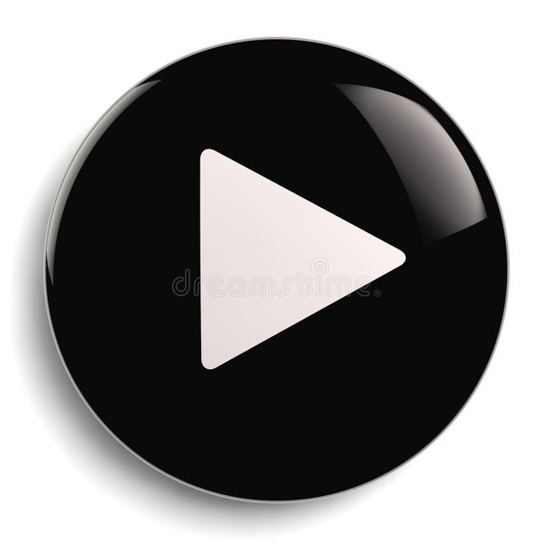 Símbolo del círculo del botón del juego ilustración del vector