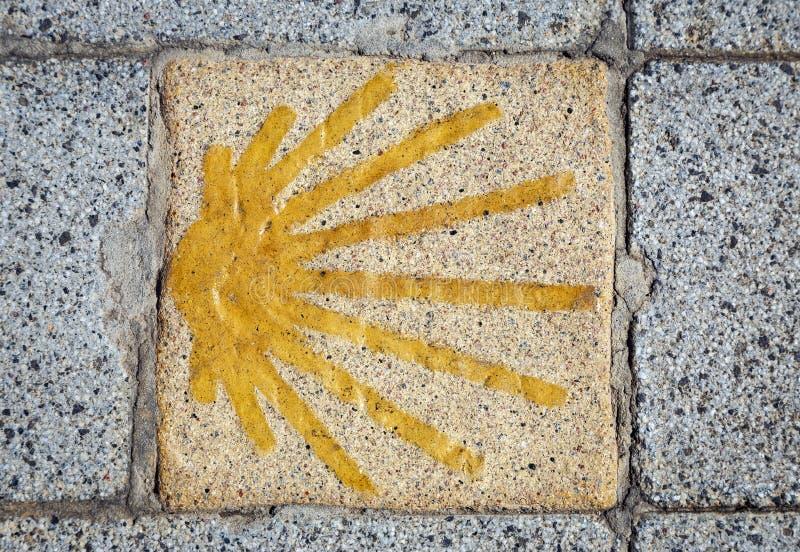 Símbolo del camino de la Santiago fotografía de archivo libre de regalías