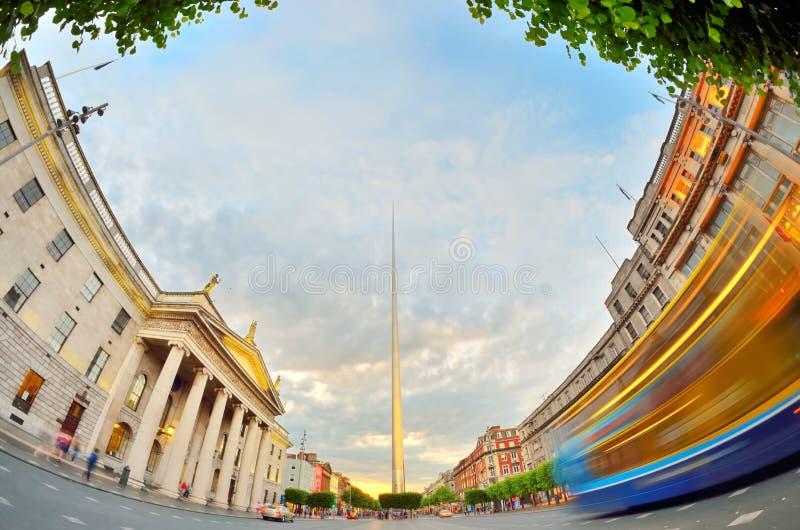 Símbolo del centro de Dublin Ireland - chapitel foto de archivo
