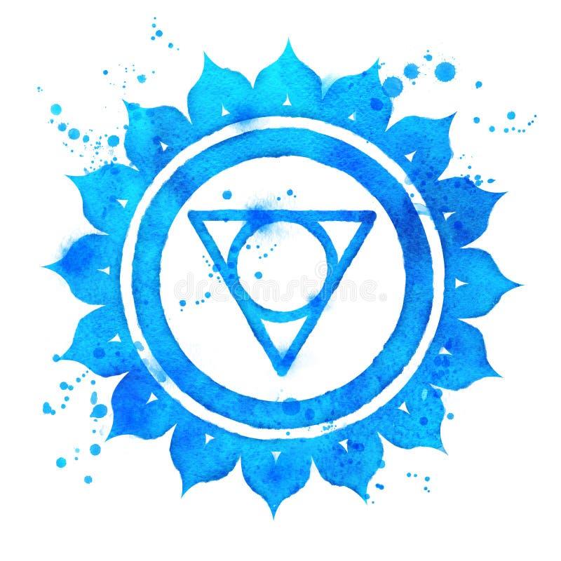 Símbolo del chakra de Vishuddha stock de ilustración