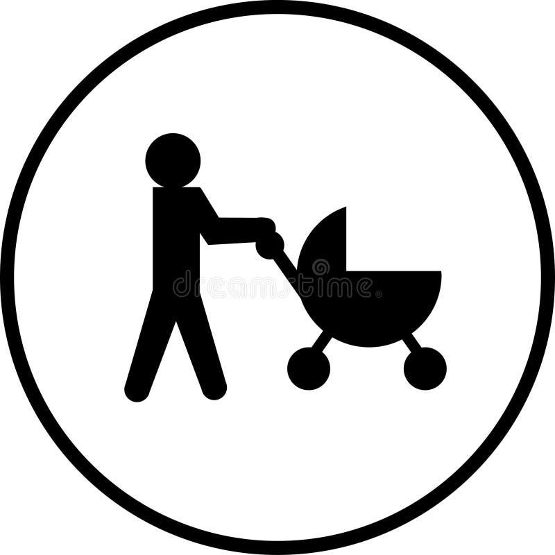 Símbolo del cochecito de bebé ilustración del vector