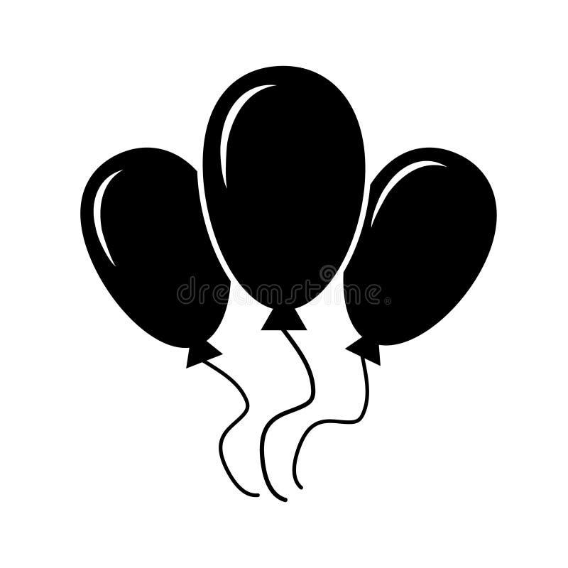Símbolo del cumpleaños de la plantilla del logotipo del vector del icono del globo ilustración del vector