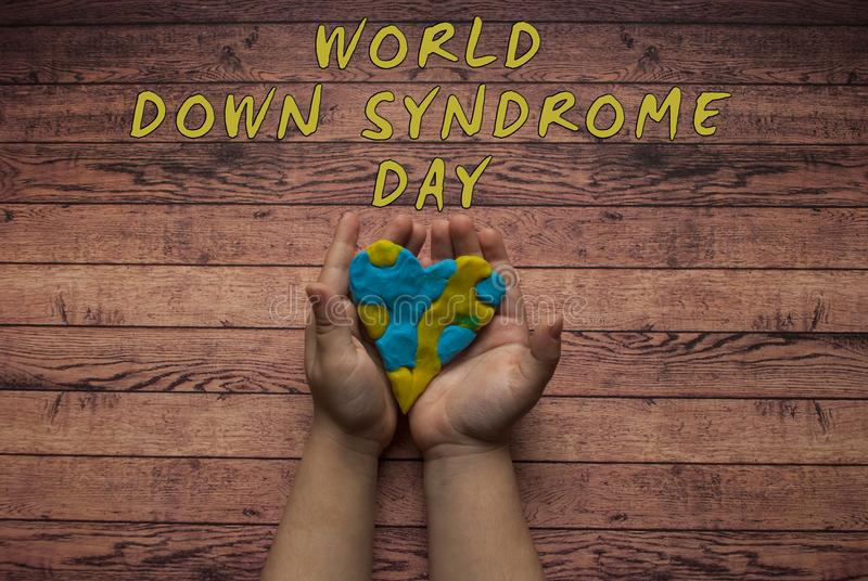 Símbolo del día de Síndrome de Down del mundo imagenes de archivo