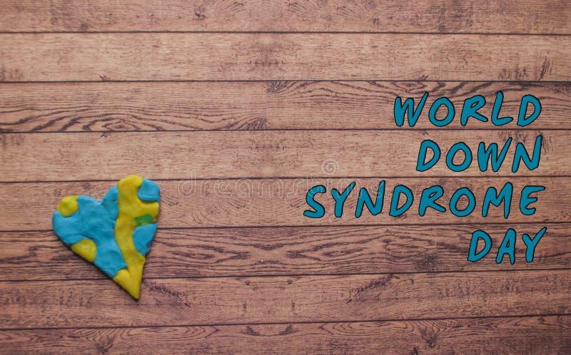 Símbolo del día de Síndrome de Down del mundo fotos de archivo libres de regalías