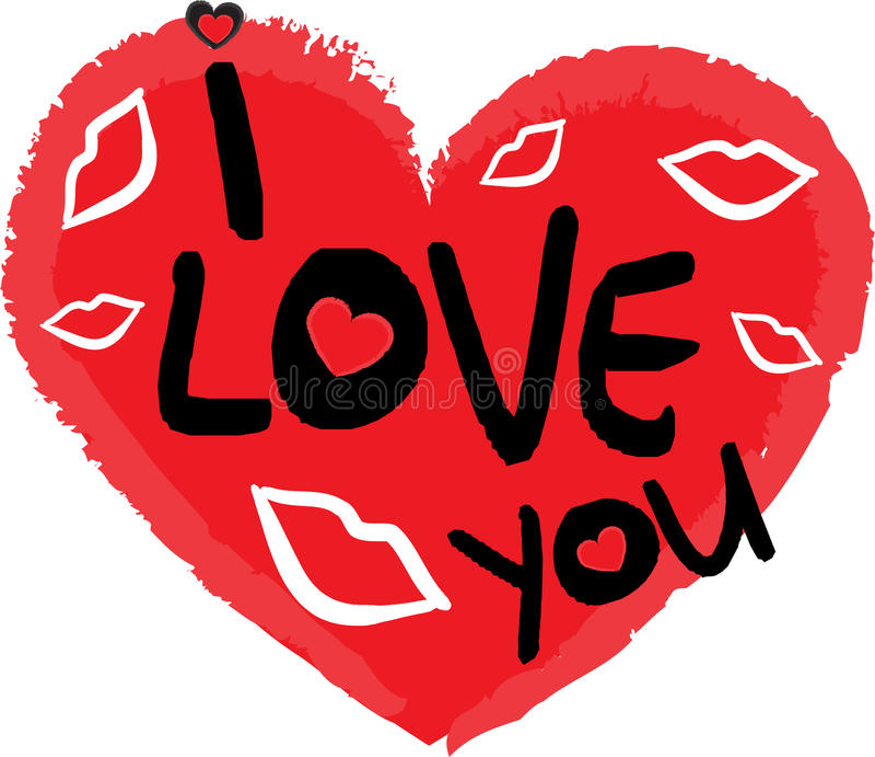 Símbolo del día de tarjetas del día de San Valentín del corazón foto de archivo
